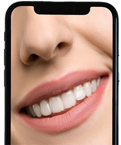 cell phone with a smile photo